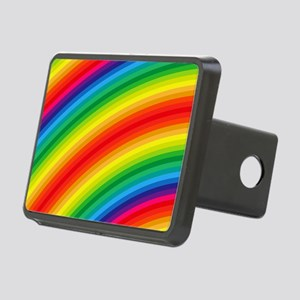 Rainbow Striped Pattern Rectangular Hitch Cover